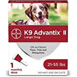 K9 advantix II Flea and Tick Prevention for Large Dogs, 21-55 Pounds, red (86145898)