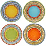 "Certified International 14176SET/4 Valencia Dinner Plates (Set of 4), 11.25"", Multicolor"