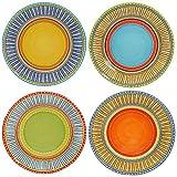 Certified International Valencia Dinner Plates (Set of 4), 11.25'', Multicolor