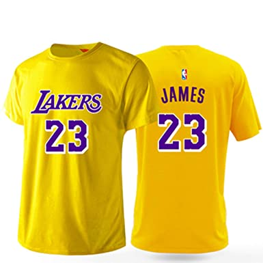 Hombres Camisetas L.A Lakers James # 23 Baloncesto Mangas Cortas ...