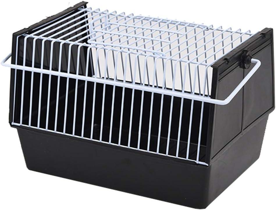 Sayletre Bird Carrier jaula de alambre rectangular para pájaros pequeños y Canarias recorrido al aire libre para el hogar Accesorios Bringing