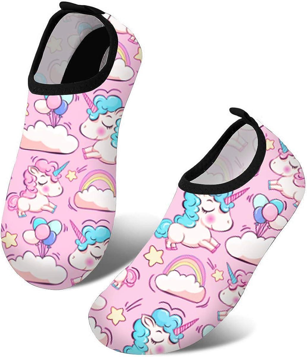 Kids Swim Water Shoes Dry Skin Barefoot Sports Aqua Socks Black Boys Girls 5055