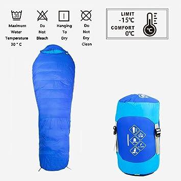 Iashion Saco De Dormir Pato Abajo Momia Campamento Al Aire Libre para Adultos Luz Y Calor Bolsa Sucia: Amazon.es: Deportes y aire libre