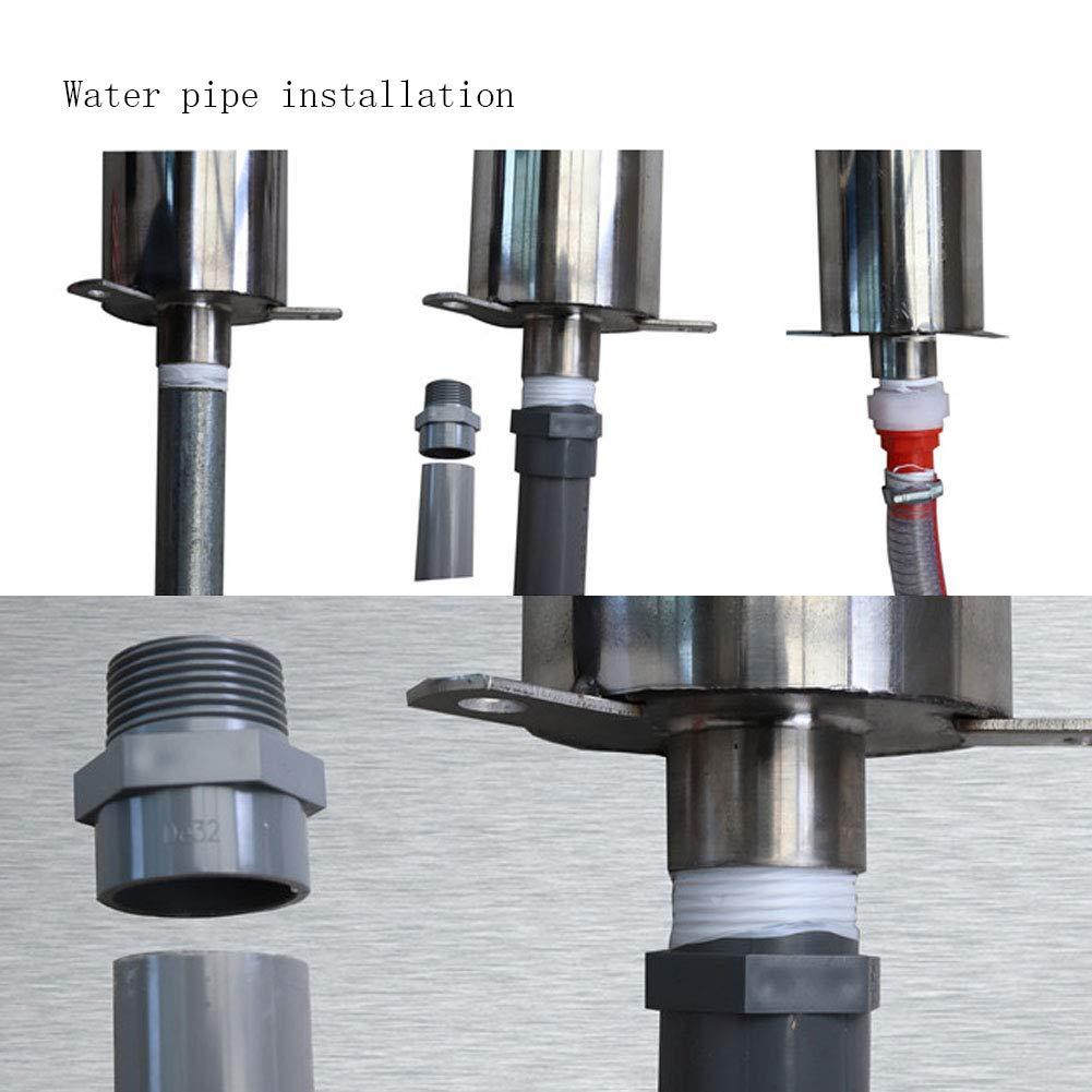 Pompa per Acqua Manuale Tubo Dritto Pompa per Acqua di Pressione Pozzo in Acciaio Inox Pompa per Acqua Agitazione Pompa per Pozzo per Acqua Domestica Pompa di Aspirazione Manuale DellAcqua Pompa