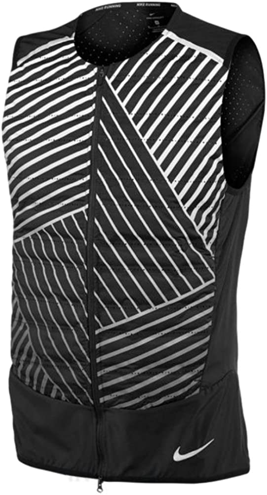 Nike Mens Aeroloft Flash Reflective Running Vest, Black (X