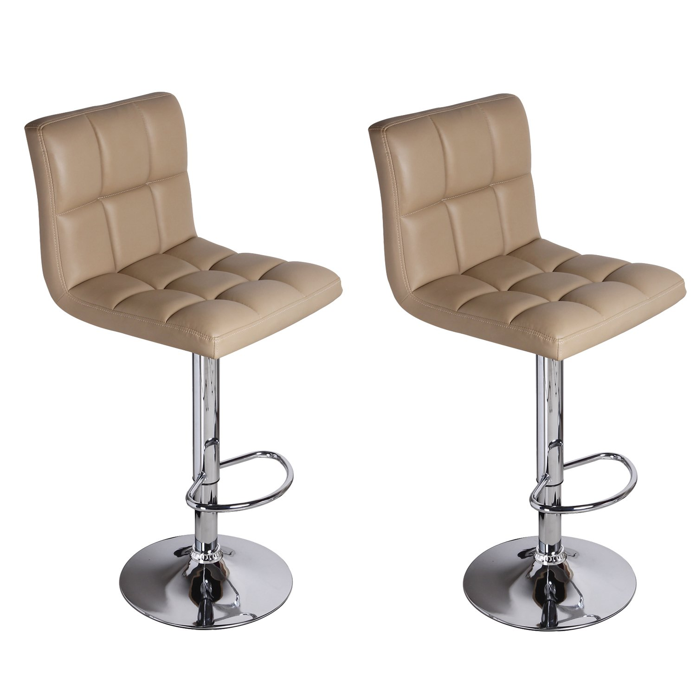 Amazon Adeco Leatherette Faux Tufted Adjustable Barstool