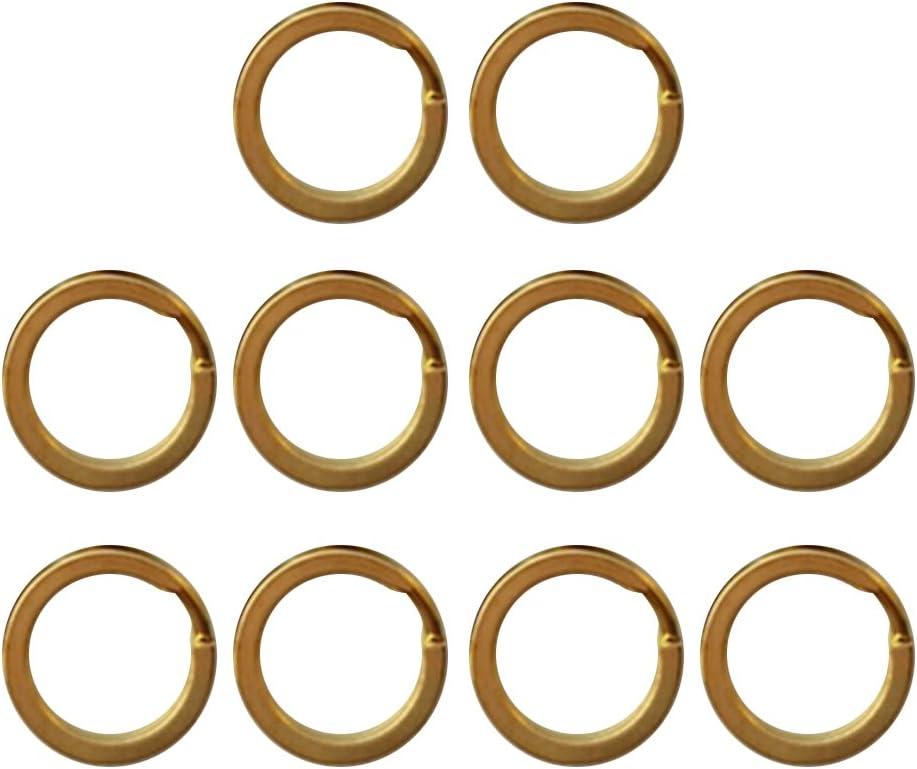 Sharplace 10pcs Schl/üsselringe 15-32mm Schl/üsselring Messing Gold Edelstahl
