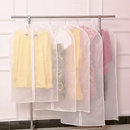 50x58x100cm Washable Hang Clothes Dust Cover Garment Bag SUCOOL PEVA Frosted Clothes Cover Bag