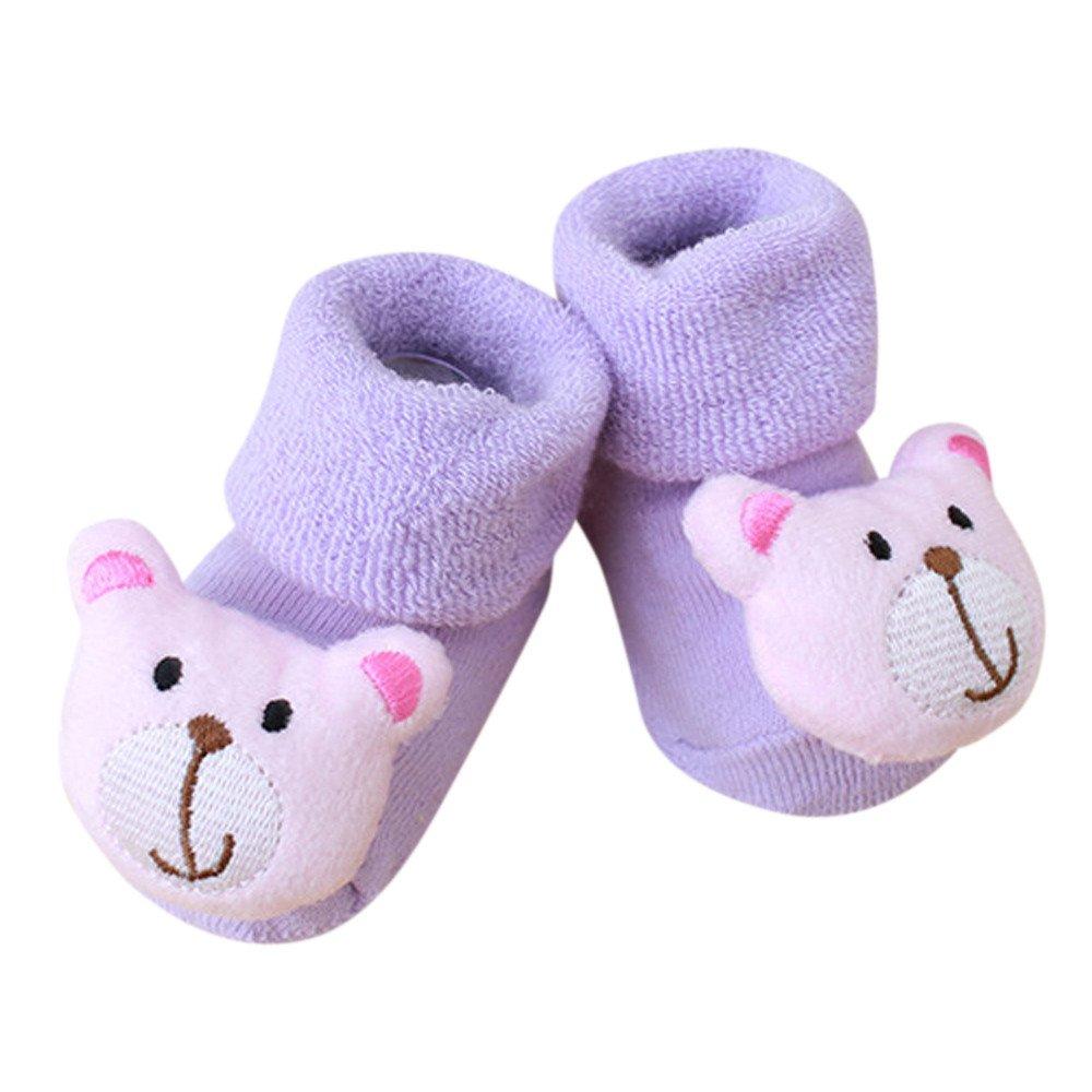 Bokoo Cartoon Newborn Kids Baby Girls Boys Anti-Slip Warm Socks Slipper Shoes Boots