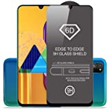 SupCares Premium Edge to Edge Tempered Glass Screen Protector for Samsung Galaxy M30S / Samsung Galaxy M30 / A50S / A50 / A30 with Easy Installation Kit (Black) [Pack of 1]