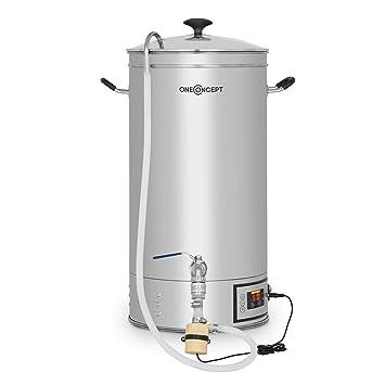oneConcept Hopfengott 15 Caldera de maceración • Juego de fermentación • Cerveza casera • 15 L