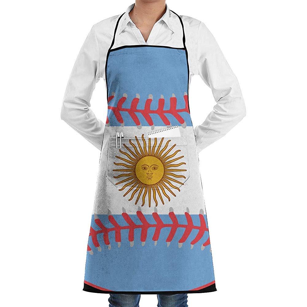 Myrdora Argentina Flag Baseball Clipart Delantal Babero de Cocina ...