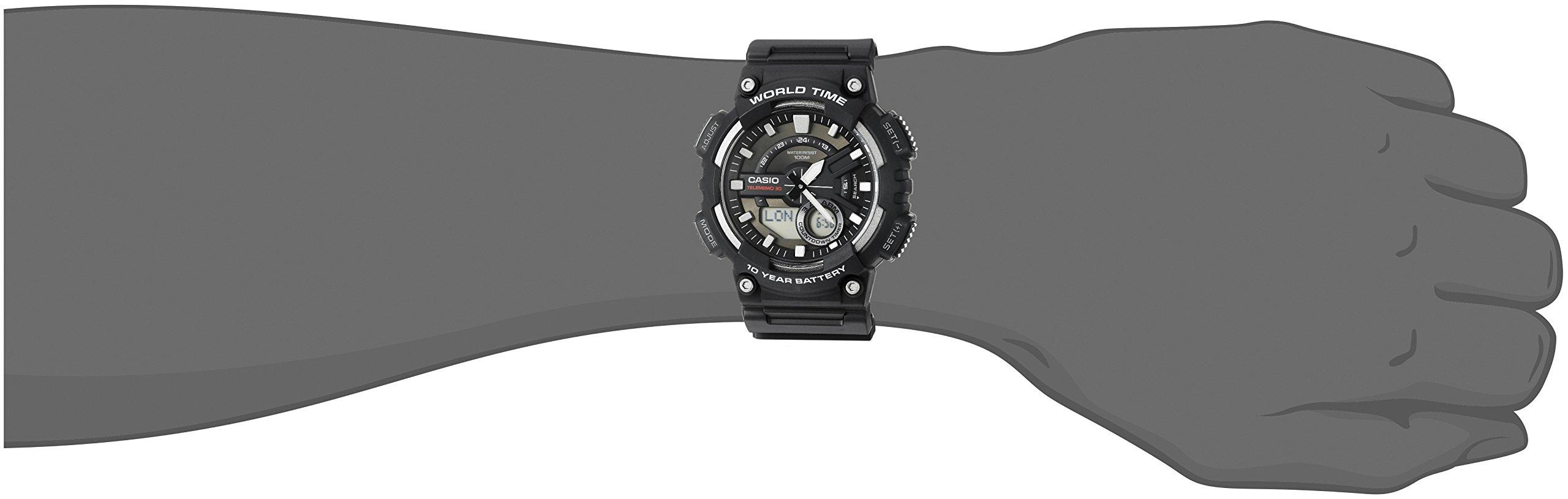 Casio Men's Sports Quartz Watch with Resin Strap, Black, 28.6 (Model: AEQ110W-1AV) by Casio (Image #2)
