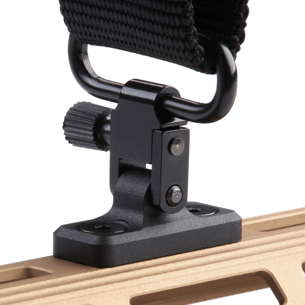TuFok Mlok Sling Mount Stud - Gun Sling Swivel for M-lok System,Rifle Sling Mount fit Uncle Mikes Style Sling Swivel Stud, Low Profile Design,Aluminum (Black) by TuFok