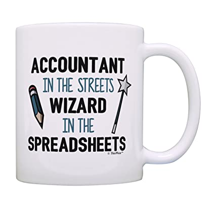 Accounting Gifts Wizard in the Spreadsheets Accountant Gifts for Women Comptroller Mug Gift Coffee Mug Tea Cup White