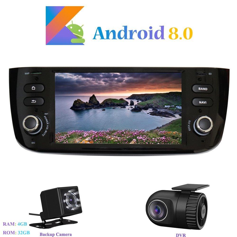 Hi-azul In-Dash 1 Din 6,2 Zoll 8-Core 64Bit RAM 4G ROM 32G Car Radio Autonavigation Kopfeinheit Car Audio f/ür FIAT Grande Punto//FIAT Linea Android 8.0 Car Autoradio Autoradio