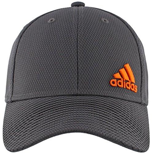 adidas Men's Release Stretch Fit Structured Cap, Orange, Large/X-Large
