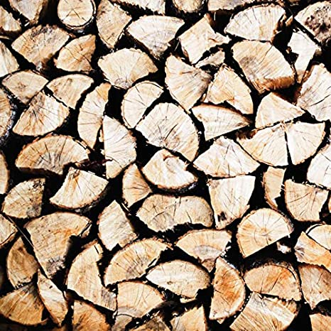 20kg of The Chemical Hut Hardwood Ash Kiln Dried Wooden Logs Coal Alternative Fuel Firewood Moisture Reduced to 20 Percent Includes White Woven Sack
