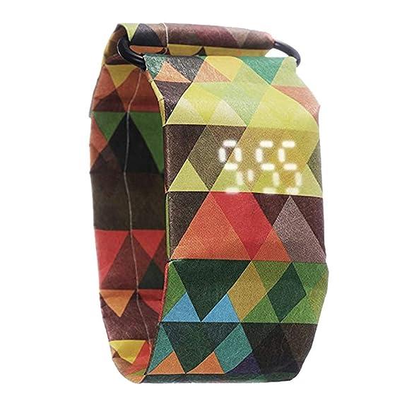 Reloj Digital de Papel, Papel Inteligente y Reloj de Pulsera, Reloj de Pulsera de