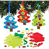 Kits de couture décorations en forme de sapins de Noël que les enfants pourront décorer et exposer – Jouets de loisirs créatifs de Noël que les enfants pourront confectionner (Lot de 3).