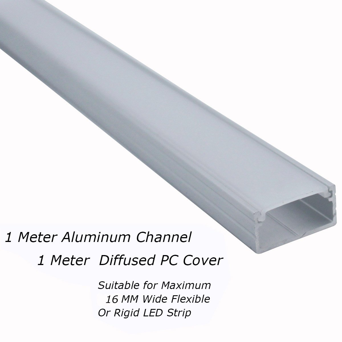 Aluminum Channels U Shape Extrusion 1 Meter//3 3 FT for