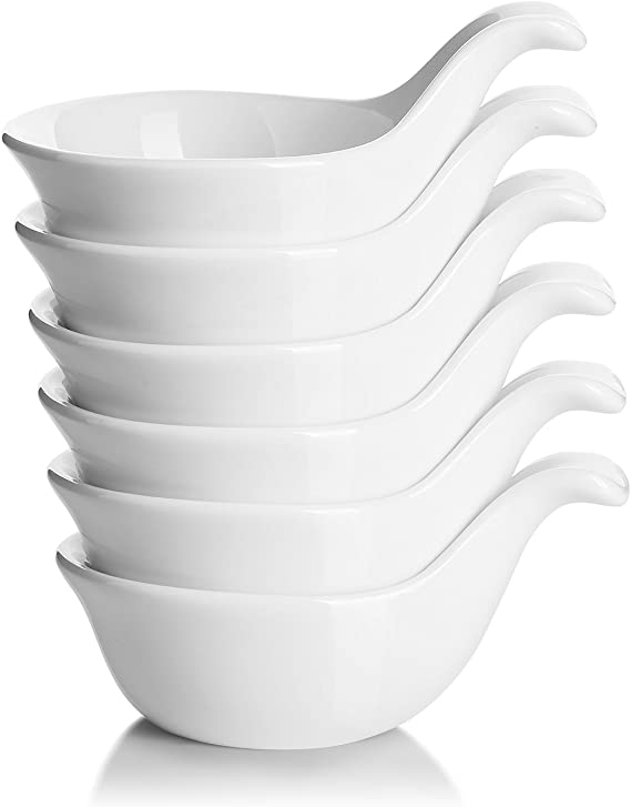 Attachable Dipping Cups Plastic Small Bowls for Sauce and Spices