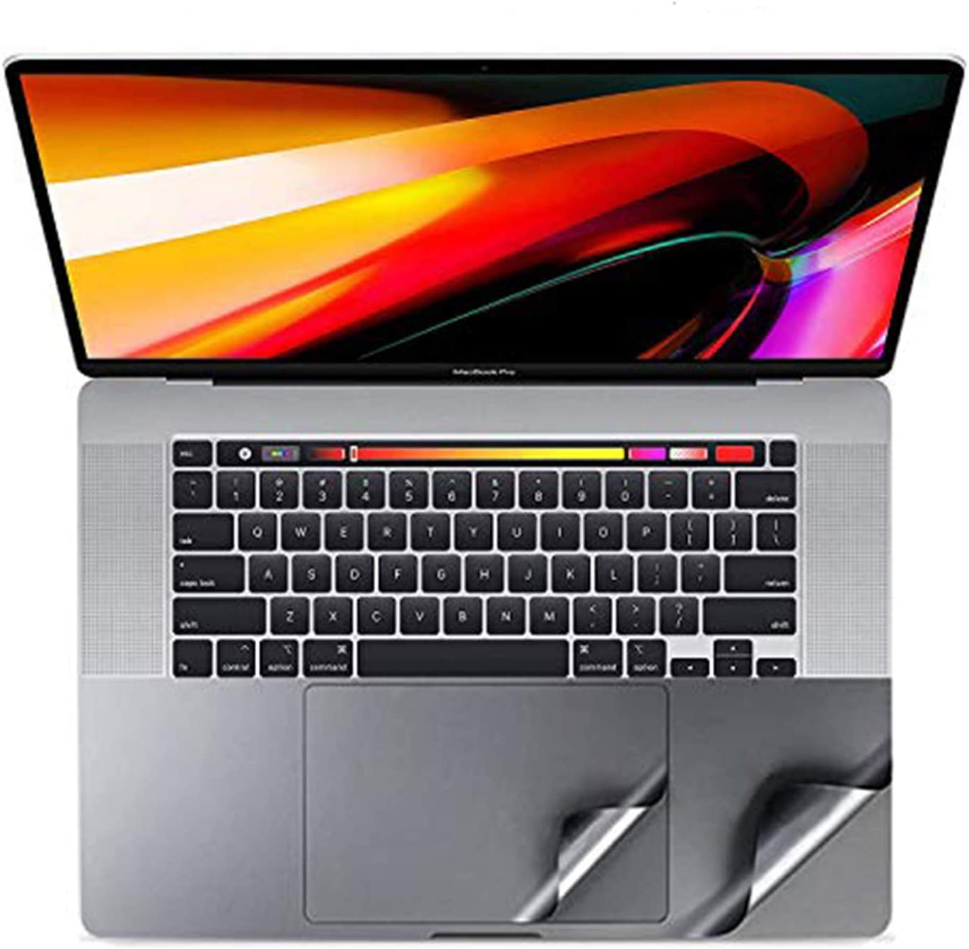 Palm Rest Cover with Trackpad Protector Sticker Skin Compatible with MacBook Pro 16 (A2141),Palm Support Protective Decal Cover Ultra Thin Scratch Resistant -Gray