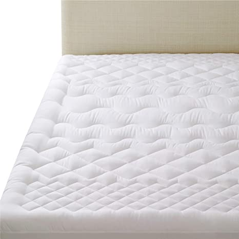 Extra Thick Mattress Topper Cooling Pillow Top Overfilled Plush Quilted Fitted