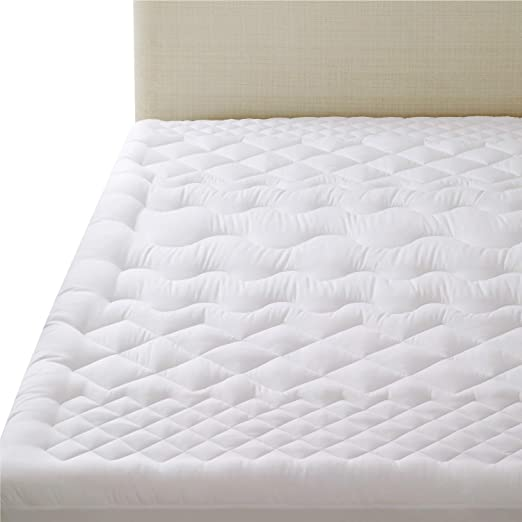 "Bedsure Quilted Fitted Mattress Pad Cover Protector Stretches Up To 18/"" Grey"