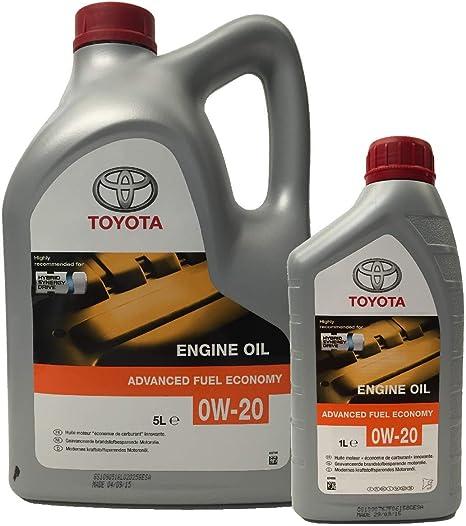 Toyota Original Synthetisches Motoröl 0w 20 Hybridmotoren Packung 6 Liter Auto