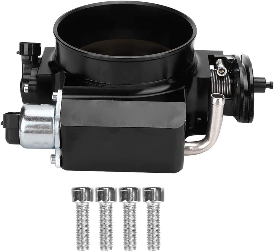 Qiilu 102MM Intake Throttle Body Replacement Compatible with Sensor GM GEN III LS1 LS2 LS3 LS6 LS7 LSX