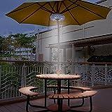 Qjoy Cantilever Patio Umbrella Light Outdoor Cantilever Pool Cordless Stand Deck Light Table Camping