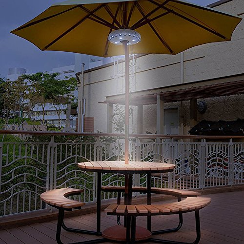 Qjoy Cantilever Patio Umbrella Light Outdoor Cantilever Pool Cordless Stand Deck Light Table Camping by Qjoy