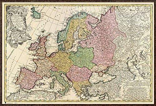 Amazon Com Antique Map Of Europe Mapa Antiguo De Europa