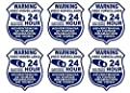 "6 Pcs Reliable Unique Warning Video Surveillance 24 Hour Electronic Monitoring Security Sticker Sign Premises Monitored CCTV Business Fence Property Yard Signs Home Trespassing Size 4""x3.5"" Spanish"