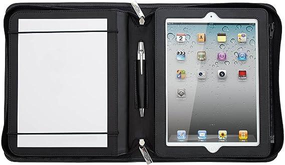 Wedo 586911 Ipad Organizer En Vogue Leder Für Apple Ipad 1 2 Und 3 Oder Tablet Pc 24 6 Cm Schwarz Bürobedarf Schreibwaren