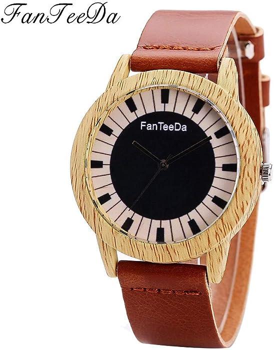 SamMoSon Relojes Hombre Deportivos Inteligentes Lotus Digitales Elegante,Banda De Cuero De Moda De Lujo Analógico De Cuarzo Reloj De Pulsera Redondo Relojes ...