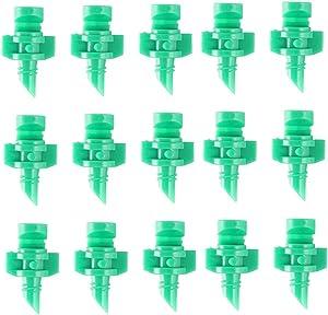 wowoda 100 Pcs 180 Degree Refraction Atomized Dripper Micro Garden Sprinkler Sprayer Hydroponic Garden Irrigation