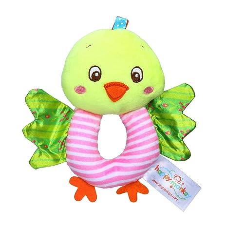 Amazon.com: LtrottedJ Infant Baby Soft Stuffed Hand Bells Animal Handbell Rattles Handle Toys for Kids (Sky Blue): Toys & Games