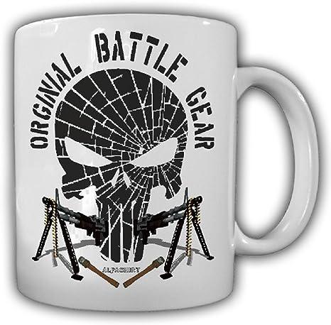 Amazon Com Original Battle Gear Pride Military Fun Bw Mg Skull Coffee Cup Mug Coffee Cups Mugs