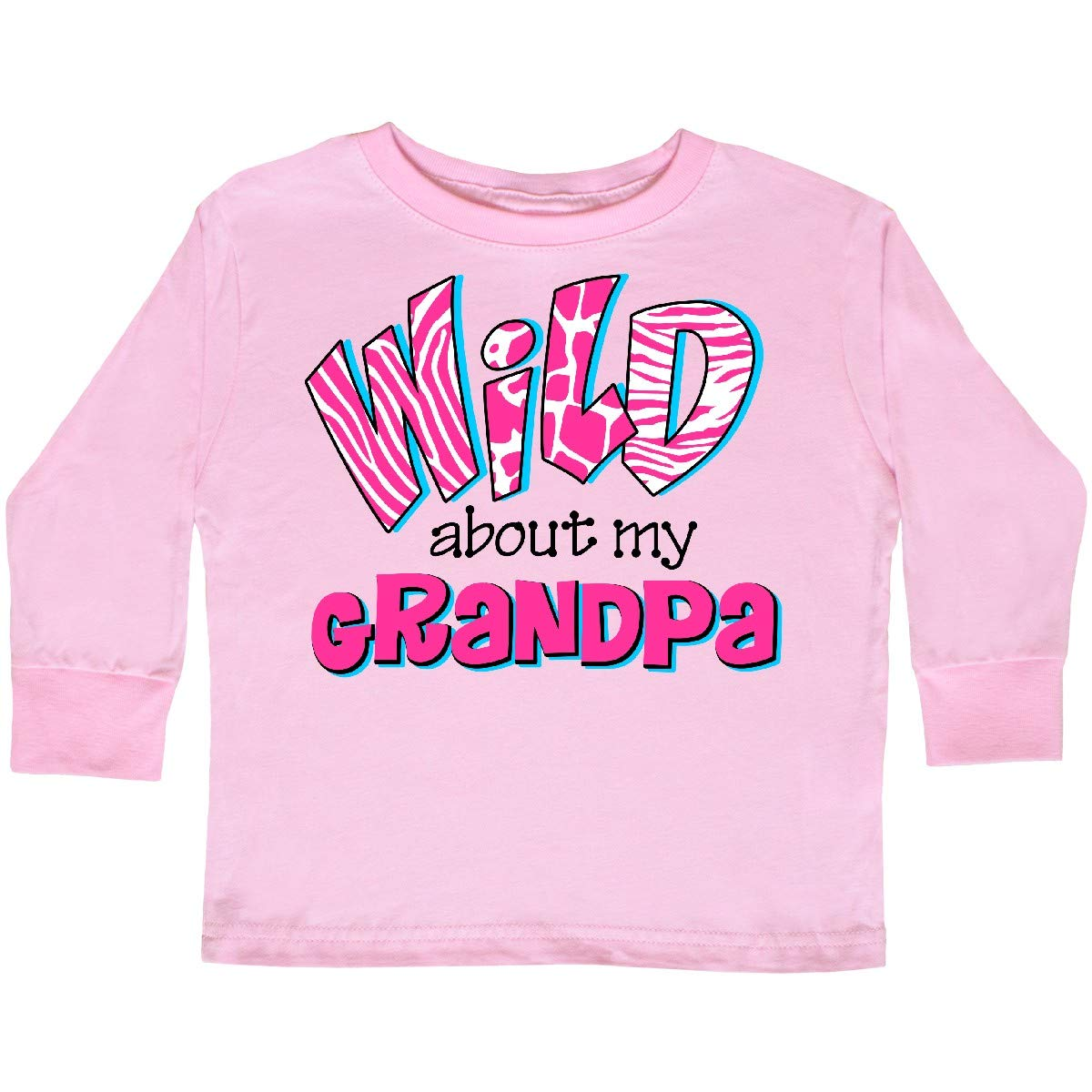 inktastic Wild About Grandpa Toddler Long Sleeve T-Shirt
