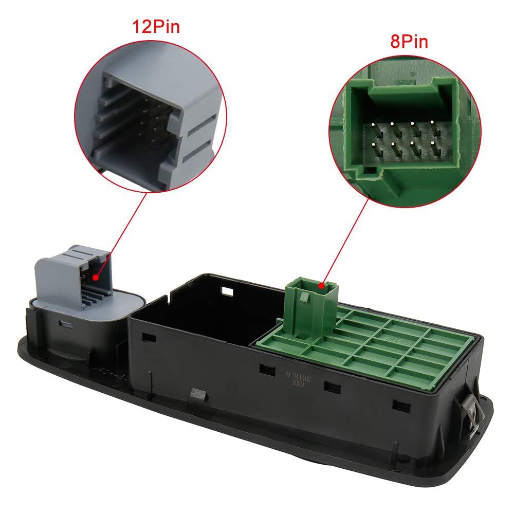 avant gauche- 8 broches Interrupteur bouton de L/ève Vitres /électrique pour Boxer Jumper 735487419 LCC 4015 OEM 6490X9