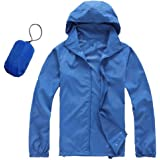 Men Women Windproof Waterproof Jacket Bike Bicycle Outdoor Sports Rain Coat Super Lightweight Front-zip Quick Dry Hoodie Raincoat UV-protect
