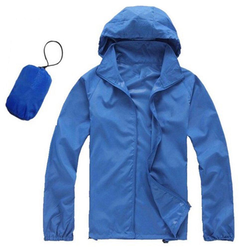 AV SUPPLY Men Women Windproof Rain Jacket Windproof Quick Dry Outdoor Cycling Running Sport Hoodie Coat