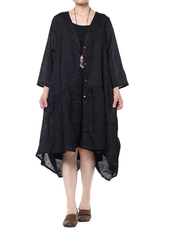 vogstyle Damen Frühling/Sommer Longline Offene Strickjacke Damen Coat