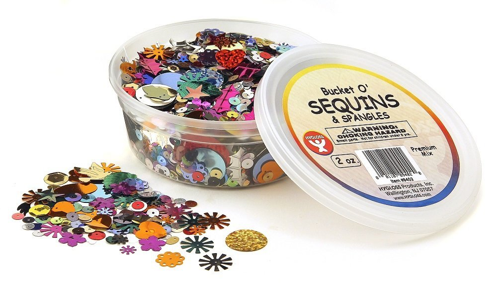 Hygloss Products Sequins and Spangles Variety Pack Add Shimmer and Shine to Any Surface 16 Ounce Bag