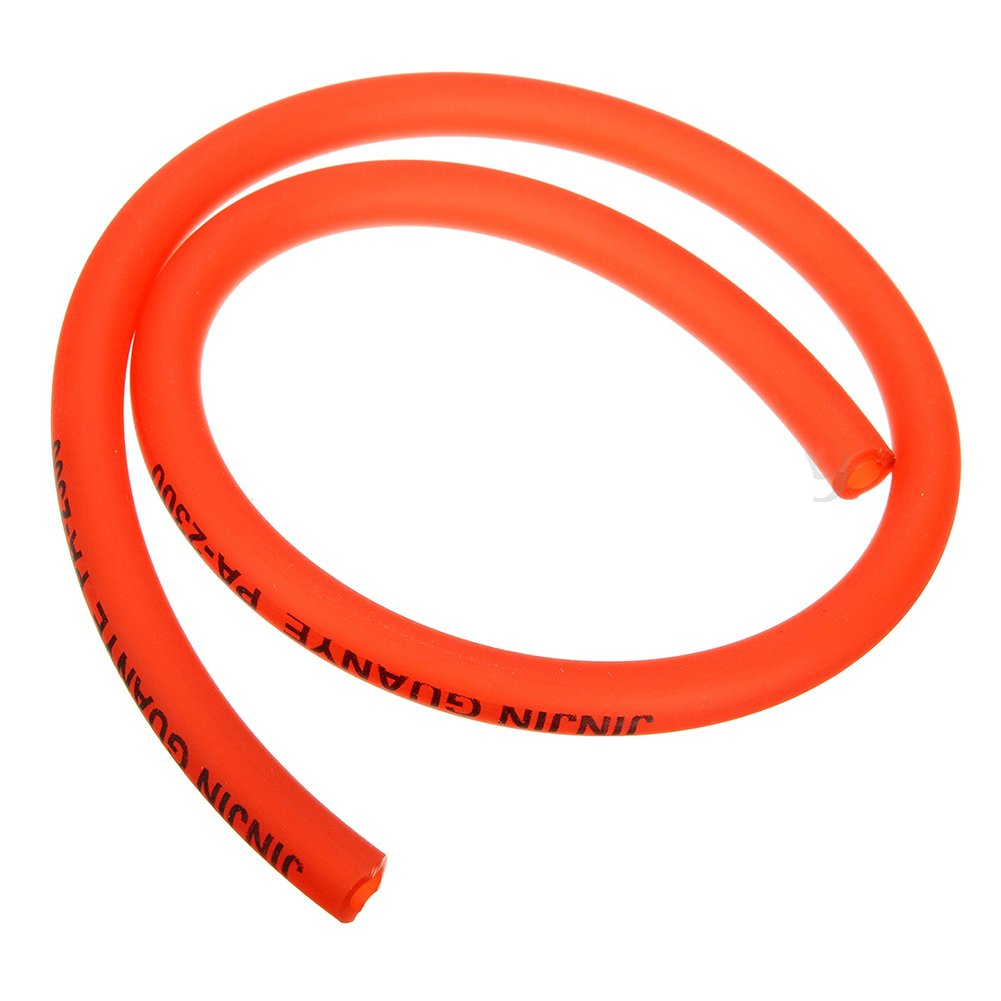 Petrol Pipe Hose Line Cikuso 6mm gasoline Filter 4 Clips Mini for Moto Scooter Dirt Bike red