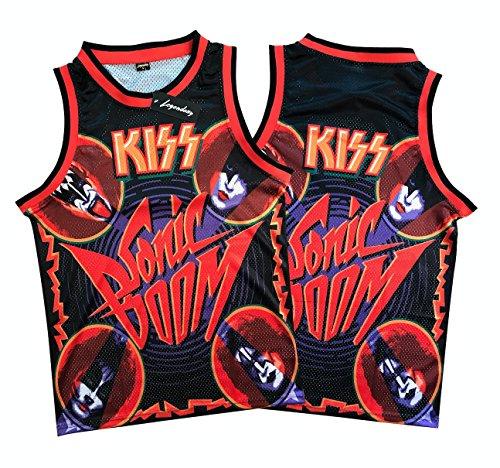 Legends Of Rock Men's KISS Sonic Boom Rock and Roll T Shirt Jersey (Medium)