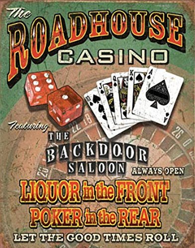 Roadhouse Bar & Casino Metal Tin Sign 16