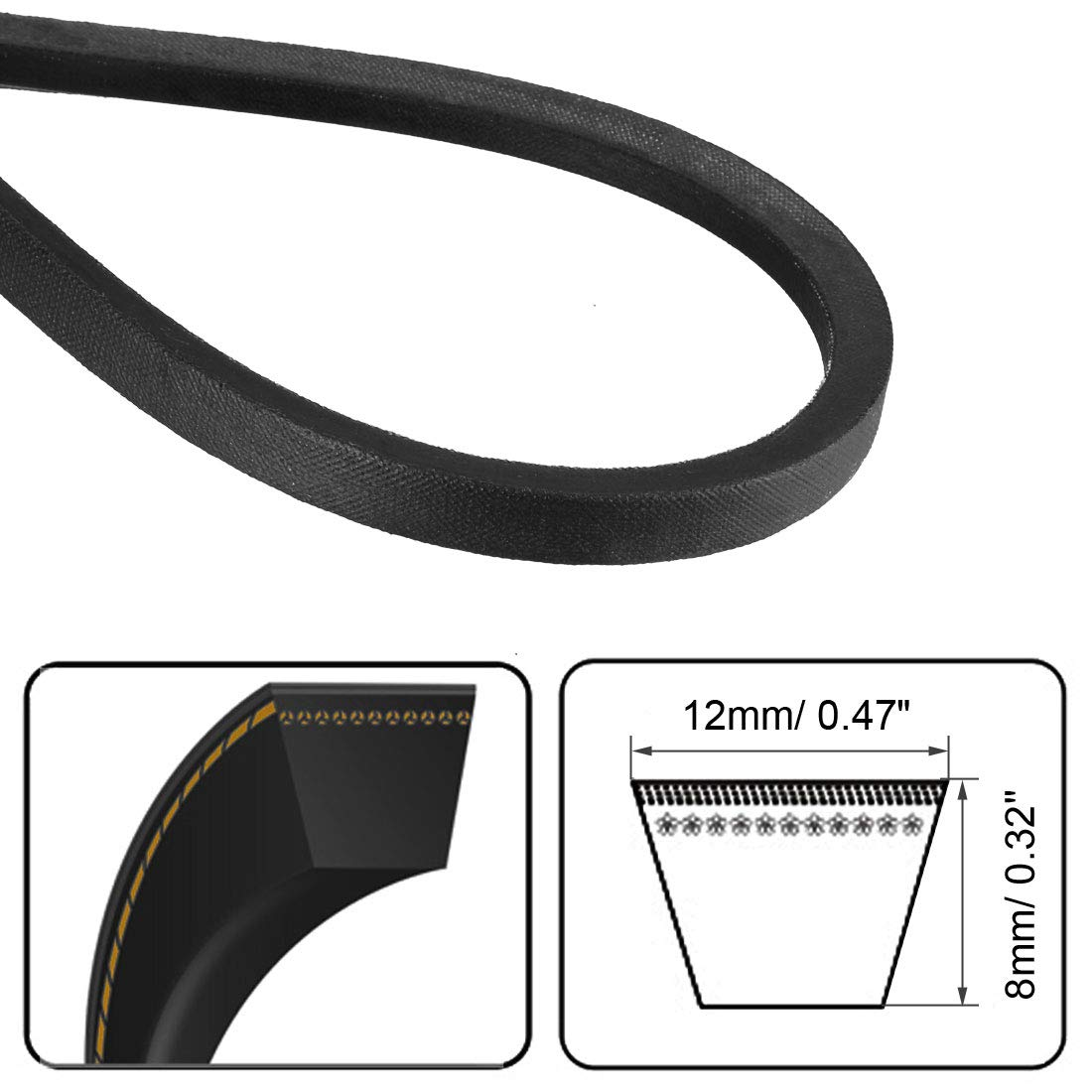 uxcell A-1000//A39 Drive V-Belt Inner Girth 39-inch Industrial Power Rubber Transmission Belt